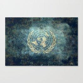 The United Nations Flag - Vintage version Canvas Print