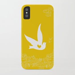 Love and Freedom - Gold/Yellow iPhone Case