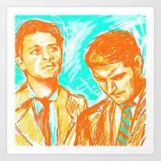 Dean and Castiel - Fun times Art Print
