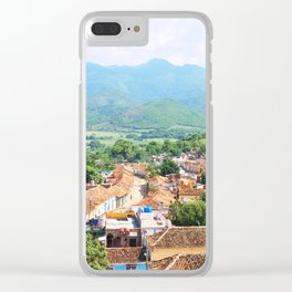 111. Mountain with colors, Cuba Clear iPhone Case