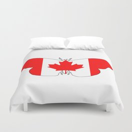 Canada Butterfly Duvet Cover
