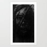 Self Portrait in Scarf Art Print