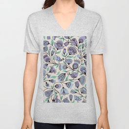 Song Birds on Branches Unisex V-Neck