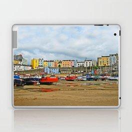 Tenby Harbour . Sunlight. Pembrokeshire. Wales. Laptop & iPad Skin