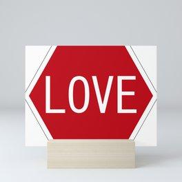 Love stop signal Mini Art Print
