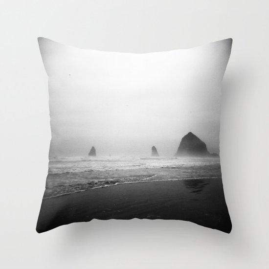 cannon beach . holga Throw Pillow