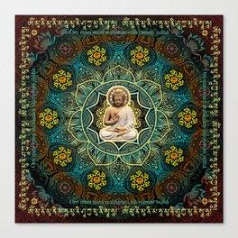 Shakyamuni Buddha - Enlightenment, Peace and Happiness Canvas Print