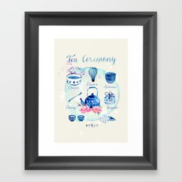 Tea Ceremony Framed Art Print