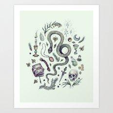Slytherin, Those Cunning Folk Art Print