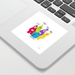 Spice Girls x Teletubbies Digital Illustration Sticker