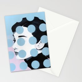 Audrey (Dots) by Famous When Dead Stationery Cards