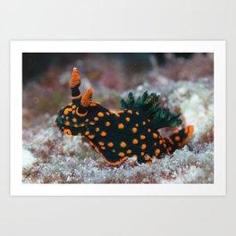 Orange-spotted Nembrotha Monster Nudibranch Art Print
