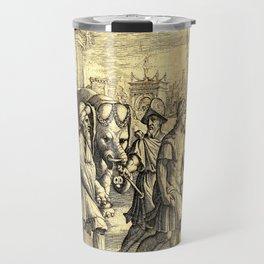 Petrarch's Triumph of Fame Travel Mug