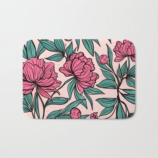 Sketchy Flowers Bath Mat