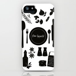 Bon Appetit Illustration iPhone Case