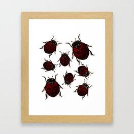 Dark Luck Lady Bugs Framed Art Print