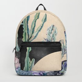 Desert Nights Gold Moon and Gemstones Backpack