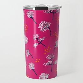 Pink Baby's Breath Travel Mug