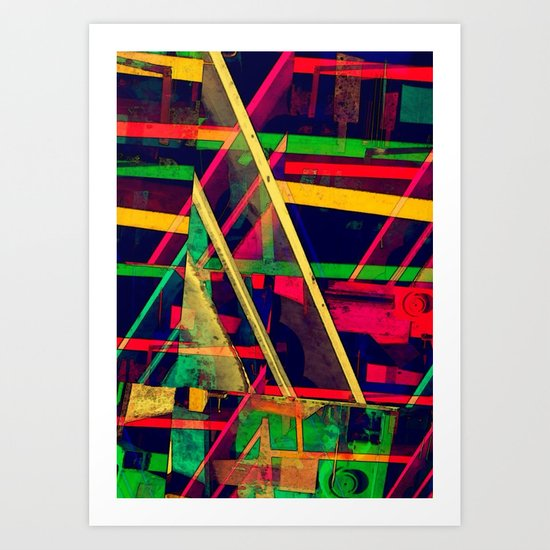 Industrial Abstract Green Art Print