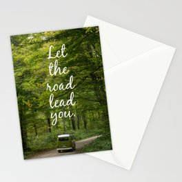 Let the road lead you - Summer Stationery Cards