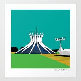 Brasilia Cathedral Niemyer Modern Architecture Art Print