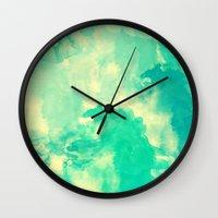 underwater Wall Clocks featuring Underwater by Galaxy Eyes
