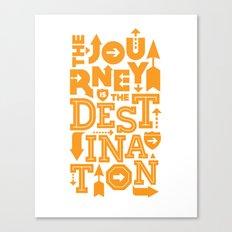 Orange Type Journey Quote  Canvas Print