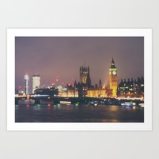 down by the thames ... Art Print