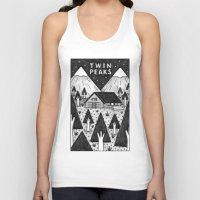 twin peaks Tank Tops featuring Twin Peaks by Ana Albero