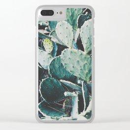 Wild cactus Clear iPhone Case