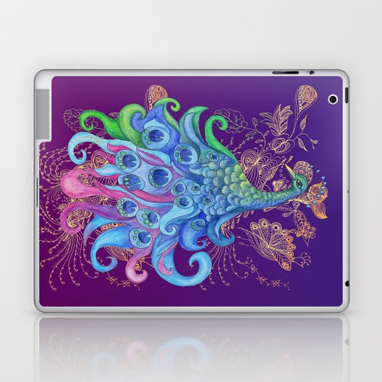 Peaceful Peacock  Laptop & iPad Skin