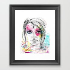 Emily Ratajkowski by Leo Tezcucano Framed Art Print