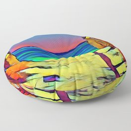 Going to the Beach Floor Pillow