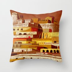 The fortress at sunset Throw Pillow