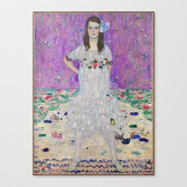 Portrait of Mäda Primaves by Gustav Klimt (1912-1913) Canvas Print
