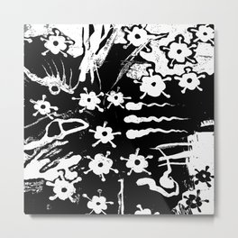 distressed flowers Metal Print