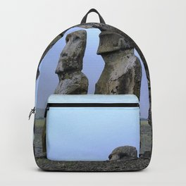 Moais in Easter Island, Chile Backpack