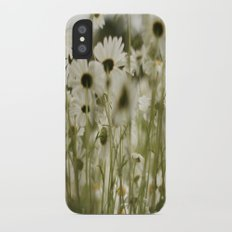 white daisies :) Slim Case iPhone X