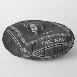 """Tarot - """"The War"""" - b&w v3 Floor Pillow"""