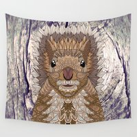 ornate Wall Tapestries featuring Ornate Squirrel by ArtLovePassion