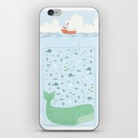 fishing iPhone & iPod Skins featuring Fishing by Ikas Alviansyah