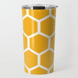Honeycomb pattern - yellow Travel Mug