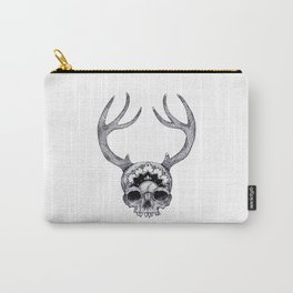 Mandala Skull With Gorgeous Antlers Carry-All Pouch