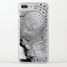Fragmented Fractal Memories and Shattered Glass Clear iPhone Case