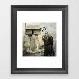 Dark Victorian Portrait Series: Baba Yaga Framed Art Print