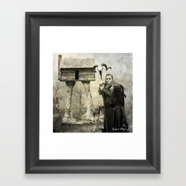 Dark Victorian Portrait Series: Baba Yaga Framed Art Print