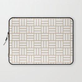 Basketweave (Tan & White Pattern) Laptop Sleeve