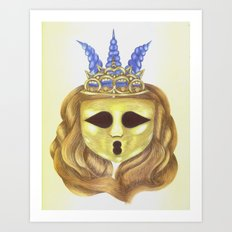 The Diadem Ghostess.  Art Print