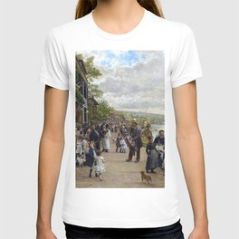 Sunday in Bas-Meudon Landscape Painting by Firmin-Girard T-shirt