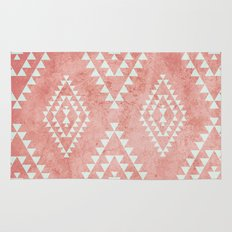 mint & coral tribal pattern (2) Rug